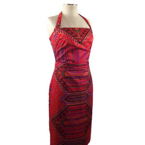 Kay Unger 100% Silk Sheath Halter Dress Sz. 8